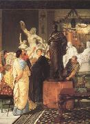 Alma-Tadema, Sir Lawrence A Sculpture Gallery in Rome at the Time of Augustus (mk23) oil